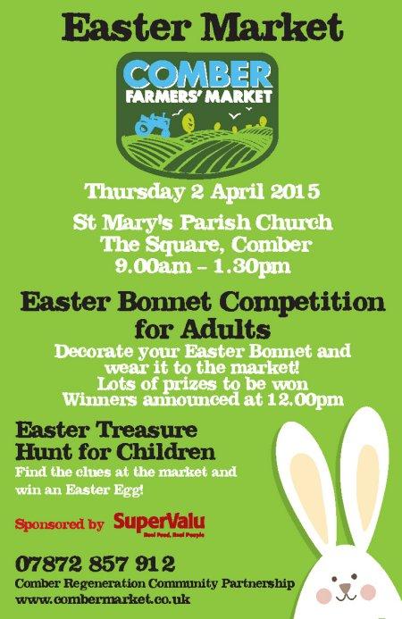 Comber Farmer Easter leaflet